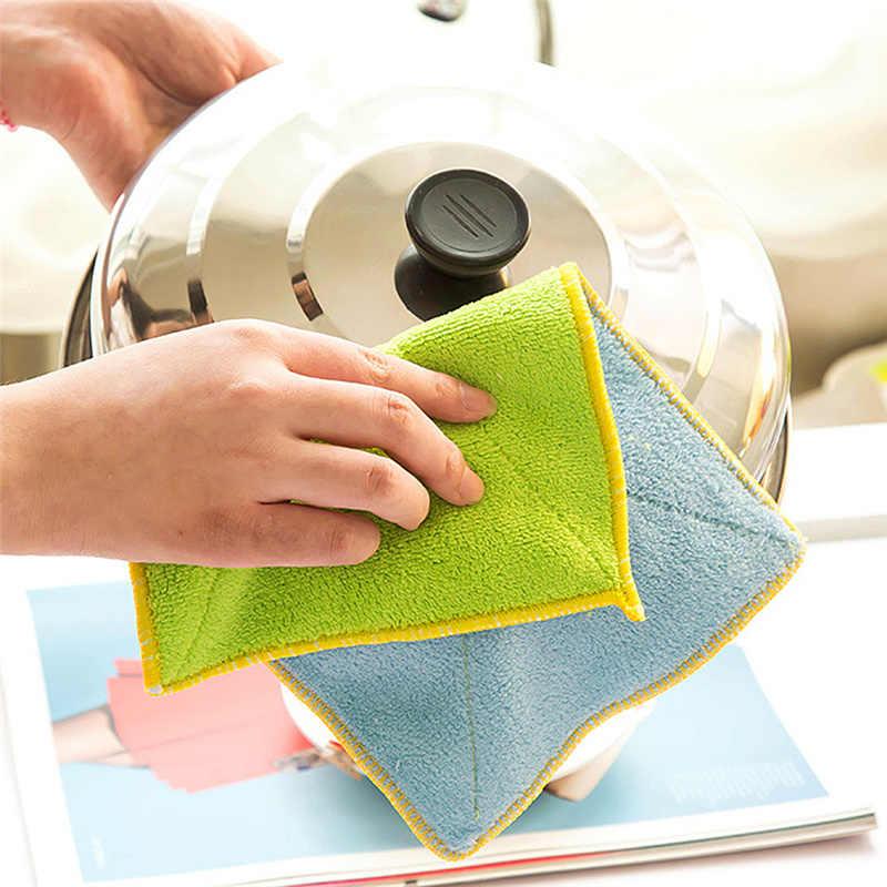מטבח שמן-משלוח ניקוי מגבת מיקרופייבר דו צדדי סופג מגבת סמרטוט מגבות עבור מנות לשטוף בד מיקרו סיבי מגבת