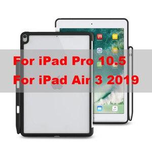 Image 5 - IPad kılıfı Pro 10.5 WOWCASE sert geri durumlarda kalemlik mükemmel maç akıllı klavye İnce arka kapak iPad hava 3 için 2019