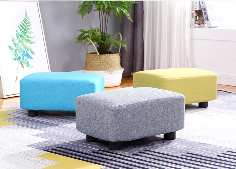 Fabric Sofa Stool Foot Stools Living Room Stool Elegant Simple Design Sofa Stool