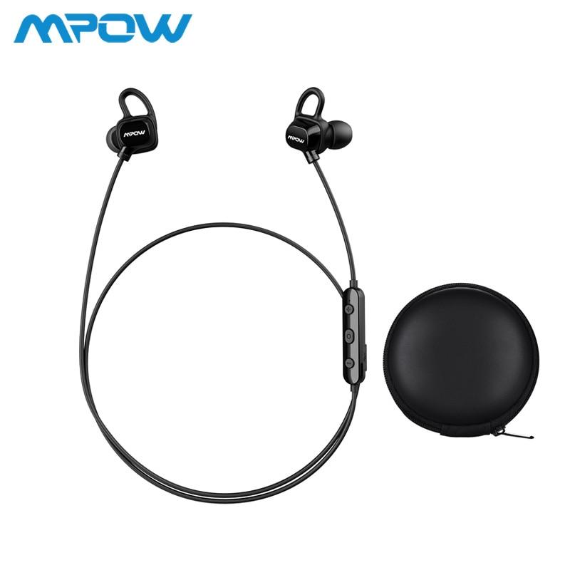 3f0bd9aa1b0 Mpow auriculares Bluetooth en la oreja los IPX5 Sweatproof deportes  auriculares 7 h tiempo para correr, cancelación del ruido Micrófono  inalámbrico ...