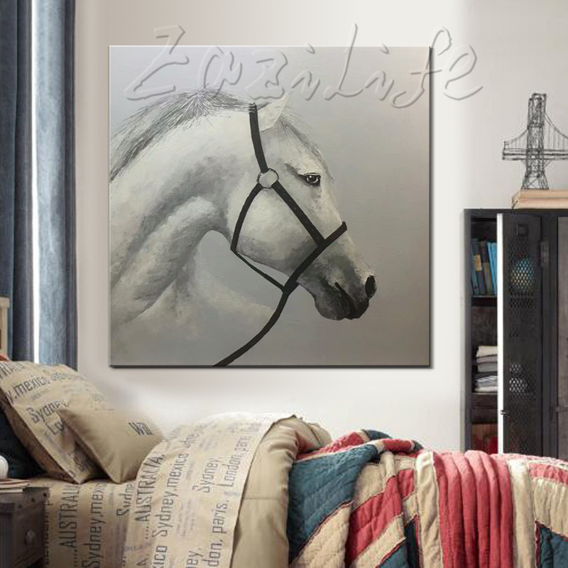 Hand Painted Original oil painting horse painting impasto heavy texture huge size palette knife painting Wall Art. Home Decor|knife painting|palette knife painting|oil painting - title=