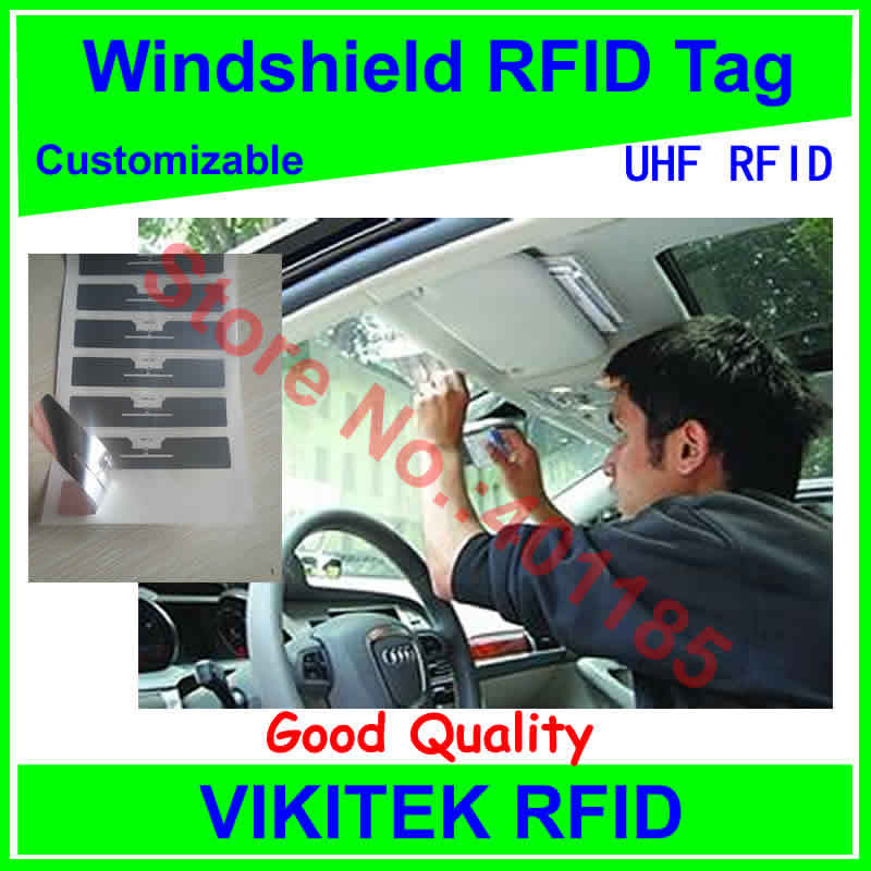 car windshield UHF RFID tag customizable adhesive 860-960MHZ Higgs3 EPC C1G2 ISO18000-6C can be used to RFID tag and labe