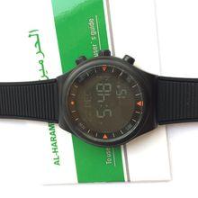 1 UNIDS/LOTE Ruso hotselling color Negro Clásico reloj Azan Musulmán azan automático reloj de alarma de tiempo de oración islámica