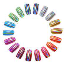 1 Box Holographic Laser Powder Nail Glitter Rainbow Chrome  Pigments Dust Decoration