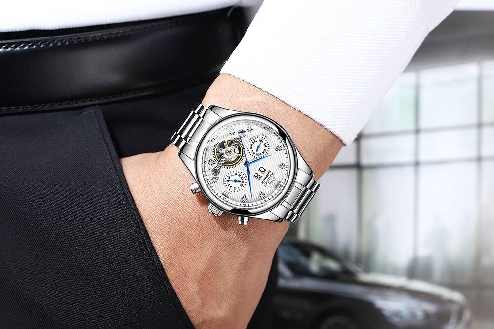 HTB1Z0TPacrrK1RjSspaq6AREXXaG GUANQIN 2019 Automatic clock men Mechanical watch men Tourbillon waterproof top brand luxury dropshipping date relogio masculino