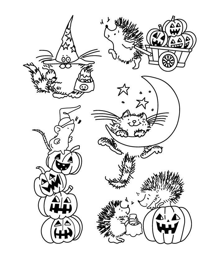 Halloween/Hedgehog/Transparent Clear Stamps for DIY Scrapbooking ...