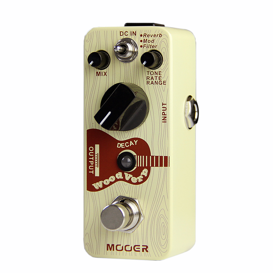 Mooer WoodVerb Digital Reverb Guitar Effects Pedal with 3 Reverb Modes Ture Bypass Guitar Pedal Guitar Accessories
