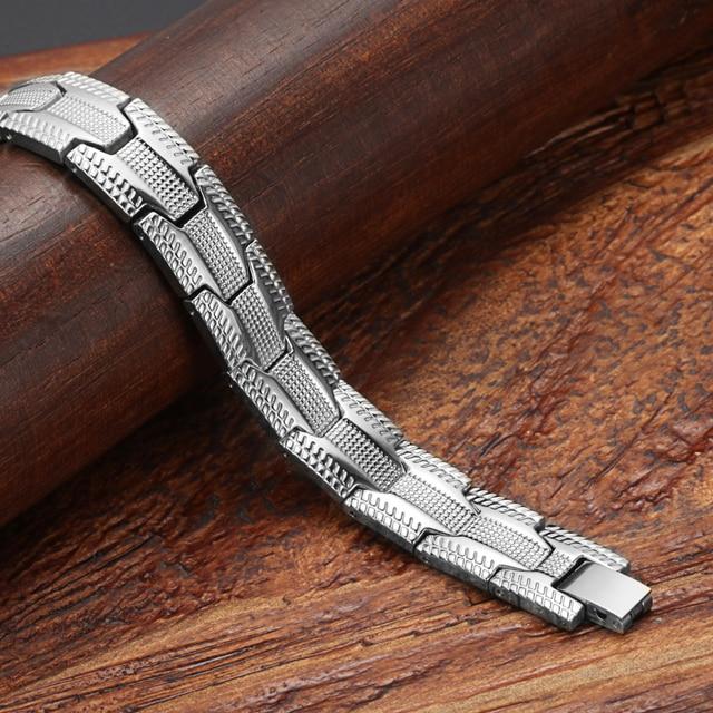 Купить модный браслет welmag мужские магнитные широкие браслеты из