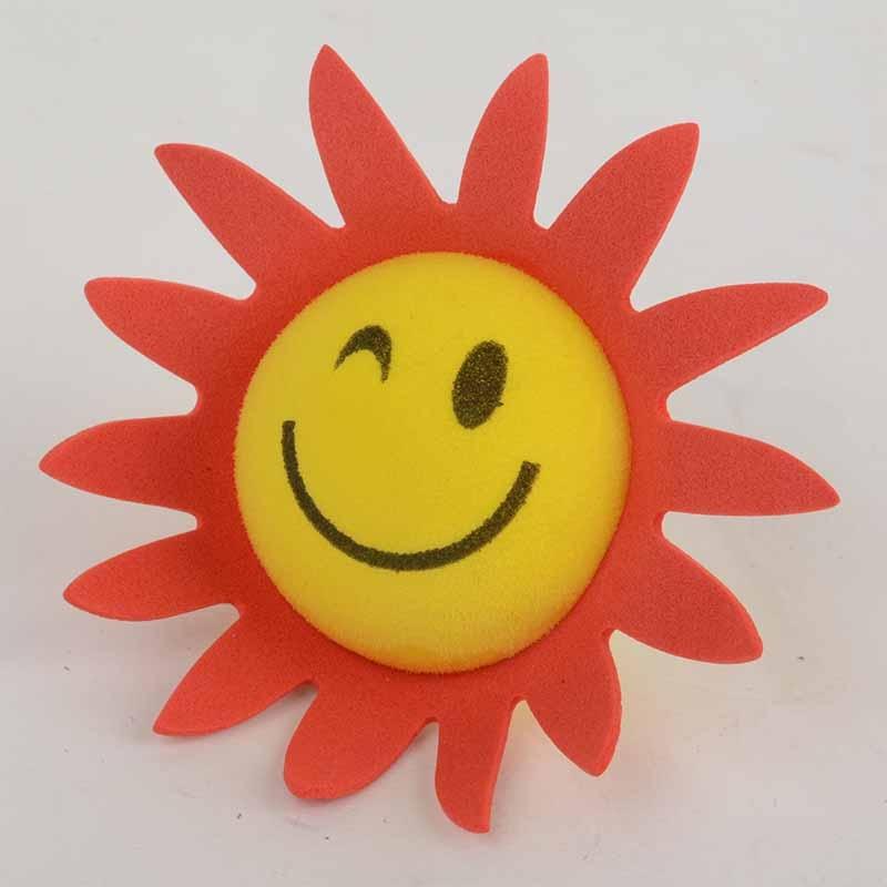 Cute Yellow Face Sun Sunshine Sunflower Car Auto Antenna Pen Topper Aerial Ball Exterior & Body Parts