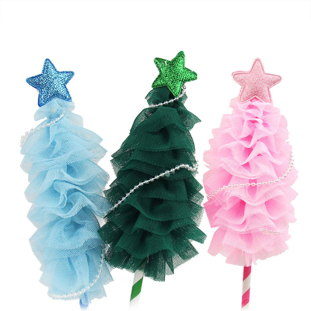 Christmas Tree Paper Cake Topper Kids Children Happy Birthday Xmas