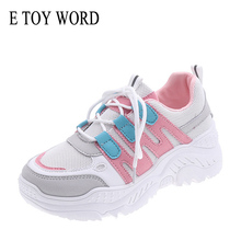 E TOY WORD Womens Sneakers 2019 New Women Breathable Mesh Shoes Casual Fashion Platform 7 colors Increased shoes