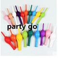 Free shipping! Pin tails balloons(50pcs/lot)12inch thick balloons birthday party Christmas decoration round tails shape balloon