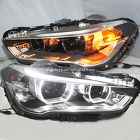 For BMW X1 F48 LED Strip Angel Eyes Head Light 2015 To 2017 Year LD