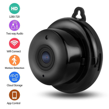 Kruiqi Mini camescope IP sans fil HD 720P, pour la sécurité domestique, avec Vision nocturne