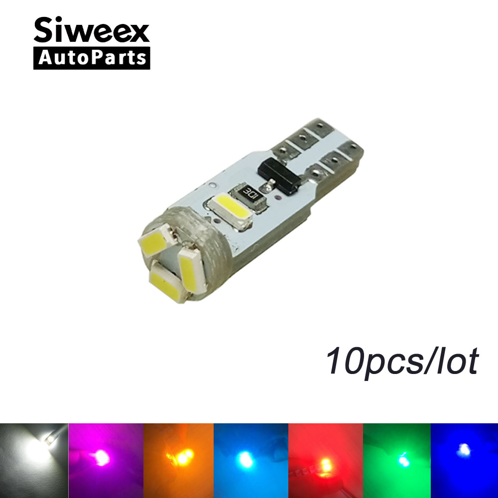 10pcs T5 5 LED 3014 Wedge SMD Car Auto Lamp Dashboard Gauge Lights Instrument Warning Indicator Signal Bulbs 7 Colors цена 2017
