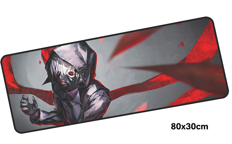 Tokyo Ghoul mouse pad gamer accessories 800x300mm notbook mouse mat large gaming mousepad Birthday pad mouse PC desk padmouse