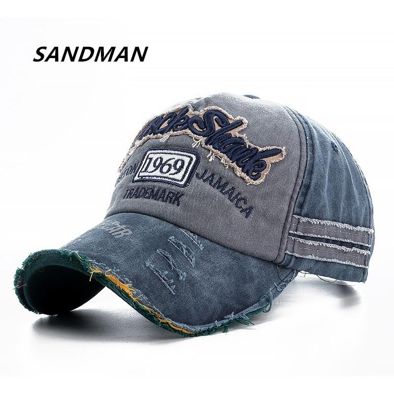 SANDMAN Brand Wash Cotton   Cap   For Men Women Gorras Snapback   Caps   Rock Shark   Baseball     Caps   Casquette Dad Hat Outdoors   Cap