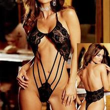 Storm1032015 Hot Sexy Lingerie Sex Sleepwear Adult Lingerie Deep V Women's Lace Sexy Underwear Black Badydoll Sleepwear 7001