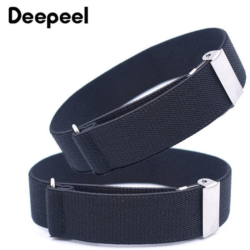 Deepeel 1/5pair 2.5/3.5X35cm Adult Unisex Shirt Cuff Non-slip Strap Nylon Elastic Suspenders Fashion Man's Armbands Suit Decor