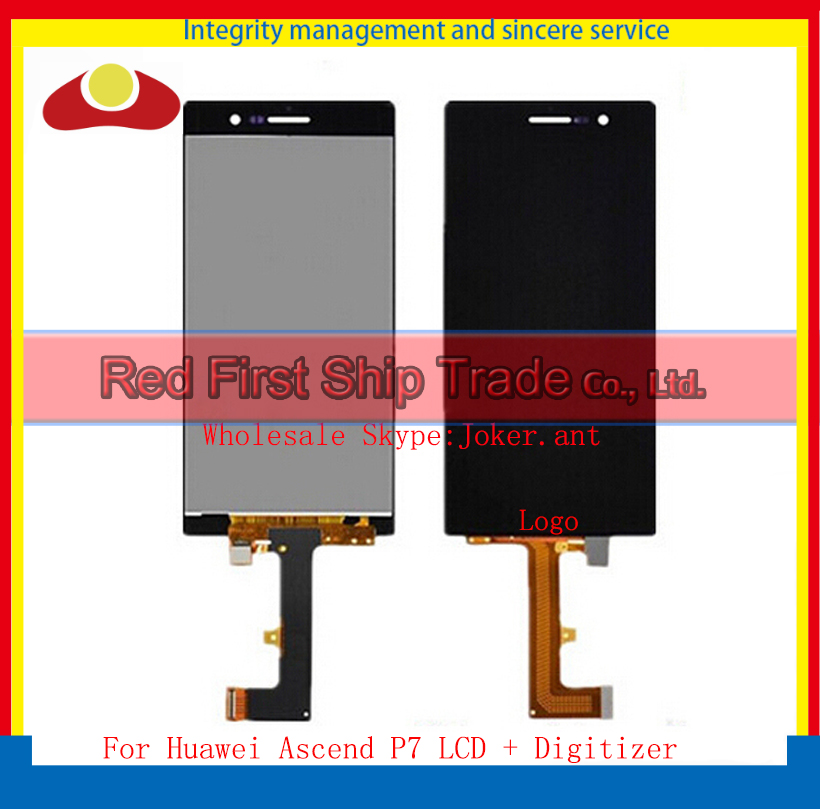 20Pcs/lot DHL EMS High Quality For Huawei Ascend P7 Lcd Display Assembly Complete With Touch Screen Digitizer Sensor Black White dhl ems high quality black white gold