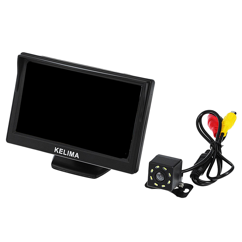 General fit Car 8 IR LED Rearview Camera + 5 inch Screen Display Automatically Switch Waterproof