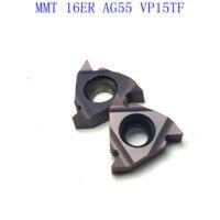 ag55 vp15tf ue6020 MMT16ER AG55 VP15TF / UE6020 / US735 קרביד משורשר Blade עבור חוט פנימי הפיכת חוט חיצוני מפנה CNC כלי מחרטה כלי (2)