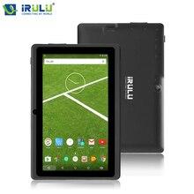 Новые IRULU 7 «Планшеты PC X3 Планшеты Android 6.0 4 ядра 16 ГБ Встроенная память HD Eyeshield Экран gms сертифицированных Планшеты TE тактильные Android