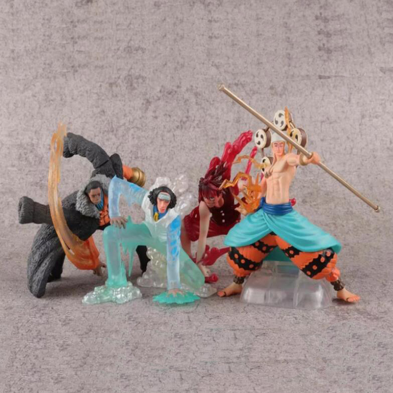 Sweet-Tempered One Piece Monkey D Toys & Hobbies Luffy Action Model Figure Sir Crocodile Enel 4pcs/set Anime Collection Figures Toy Gift Y7869