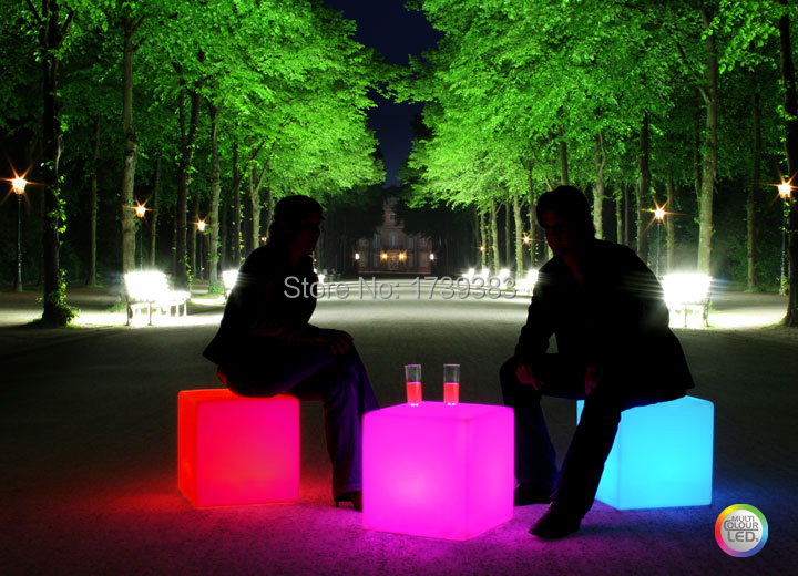 NEW!50CM100% unbreakable led Furniture chair/table Magic Dic Remote controll square cube luminous light for variety of occasions new shengshou 10x10x10 magic cube professional pvc
