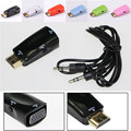 HDMI to VGA with 3.5mm Audio Cable HDMI to VGA Adapter Male To Female 1080p HDMI to VGA Converter For PC HDTV Xbox 360 PS3
