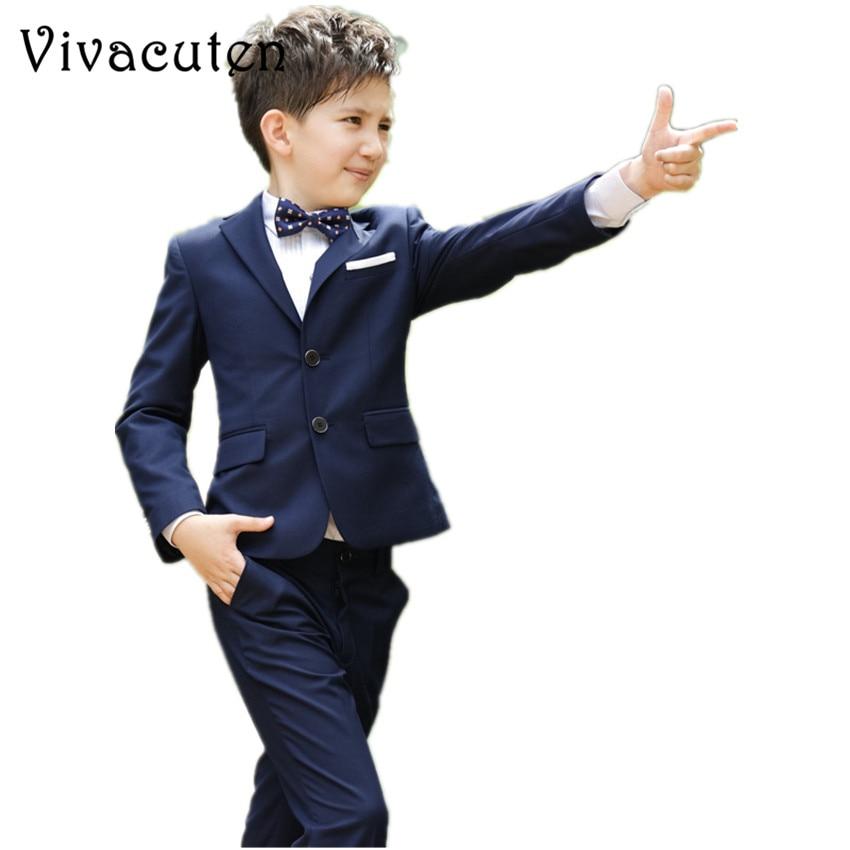 Fashion Boys Suits For Weddings Kids Prom Classic Costume Blazers Pants Shirt Tie 4pcs Suit Set Children Clothing Sets F088 spring autumn boys clothing set fashion children suit set shirt tie vest pants kids 4pcs clothes set costume for baby boy