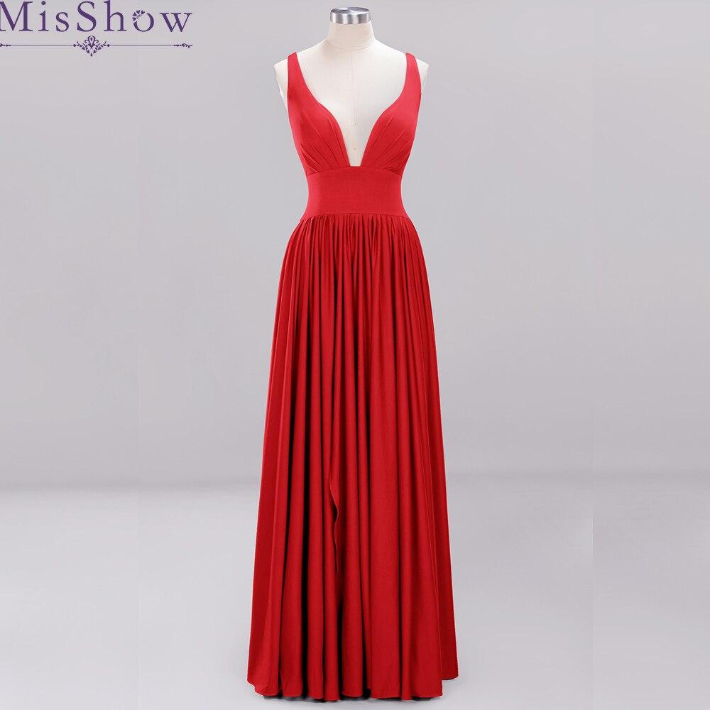 34 couleurs prix de gros Satin robes de demoiselle d'honneur femmes Sexy sans manches 2019 longues robes de mariée Robe demoiselle d'honneur
