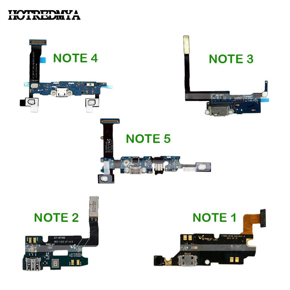 USB Charger Charging Port Flex Cable Dock Connector Parts For Samsung Galaxy Note 1 2 3 4 5 N7000 N7100 N900 N9005 N910F N920F