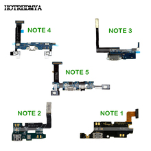 купить USB Charger Charging Port Flex Cable Dock Connector Parts For Samsung Galaxy Note 1 2 3 4 5 N7000 N7100 N900 N9005 N910F N920F дешево