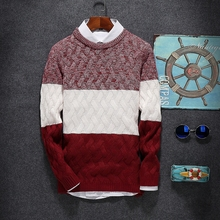 Men's Round Neck Long Sleeved Sweaters, Left ROM New Hot Sale Men Fashion Business Sweater, Warm and Comfortable Size S M L-2XL