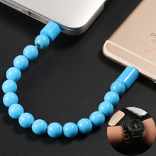 Beads Bracelet Micro USB Portable Charging Sync Data Cable For iPhone 5 5s se 6 6s 7 plus IOS Android Phone