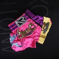 Mens Children Kick Boxing Muay Thai Fight Shorts Kids Boy Kickboks MMa Pants Women Girls Kickboxing Grappling Fitness Sportswear