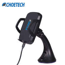 CHOETECH 3 Coils Qi Wireless Car Charger Charging Dock Phone Chargers For Samsung Galaxy S6/S6edge And For Nexus 4/5/6