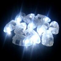 50 stks Classic DIY Speelgoed's Voor Kids Wit LED Lamp Lights RGB Flash Lampen Ballon Lampenkap voor Papieren Lantaarn Wedding Party Decor