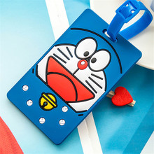 Cute Cartoon Silicone Luggage Tag Travel Suitcase Baggage Travel Bag Boarding Tags Address Label Name ID Tags PC0025