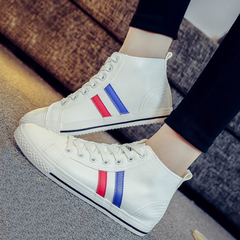 Manresar 2016 New Fashion font b Women b font Autumn Spring Casual Shoes High Top Lacking