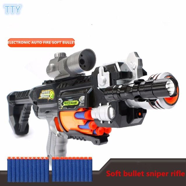 Macio Arma Bala Rifle Sniper Arma De Brinquedo de Plástico Pistola de Água Injetor Da Bolha Brinquedos Ao Ar Livre Paintball Paintball Nerfs Elite Air Soft arma