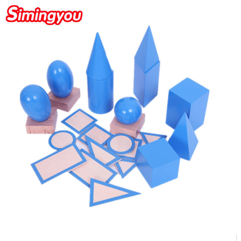 Simingyou Baby Toy Montessori Geometric Solids Early Education Kids Toys Brinquedos Juguetes D10-Q-55 Dropshipping simingyou kids toys colored wood double sided magnetic children drawing board montessori c20 q 15 drop shipping