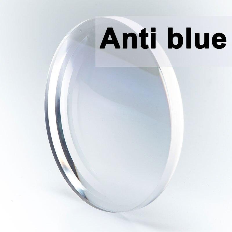 Özel bir çift optik Lens Anti mavi işık GREEN-EMI reçete miyopi presbiyopi çizilmeye dayanıklı 1.56 1.61 1.67