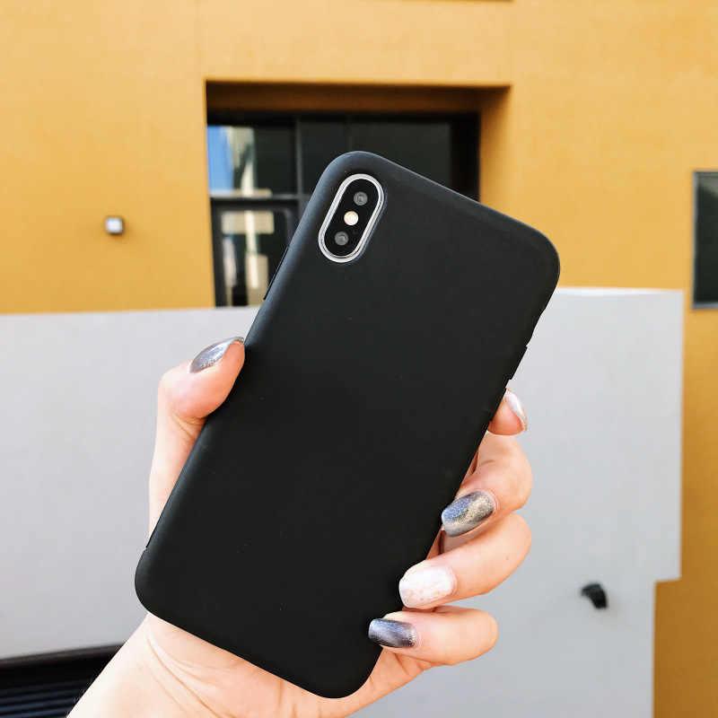 ソフト TPU キャンディーカラーの携帯電話ケース三星銀河 S10 Lite A7 A9 A6 A8 プラス J4 J6 J8 2018 s6 S7 エッジ S8 S9 プラス J3 J5 J7 2017