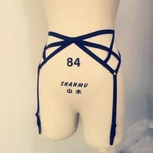 New  pastel goth women leg strap clip garter belt sexy lingerie underwear suspender belt stocking retail