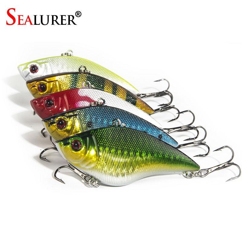 5pcs/<font><b>Lot</b></font> Fishing Sinking <font><b>VIB</b></font> Lure <font><b>Vibration</b></font> Rattle <font><b>Hook</b></font> fishing lure pesca Crankbait <font><b>Baits</b></font> 16.4g 7cm Free Shipping