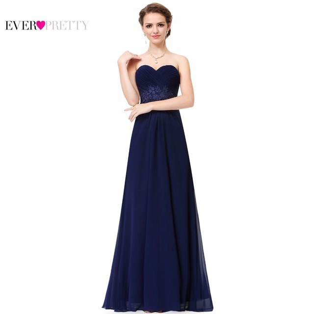 Long Evening Party Dress Ever Pretty EP08864 Chiffon Off the shoulder Floor-Length Evening Dresses A-line Empire Evening Dresses