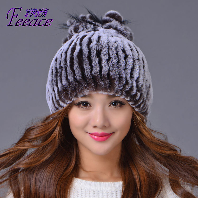 Princess Hat,Skullies new winter warm hat, wool leather hat, rabbit hair hat. Fashion cap.FPC018 [swgool] skullies