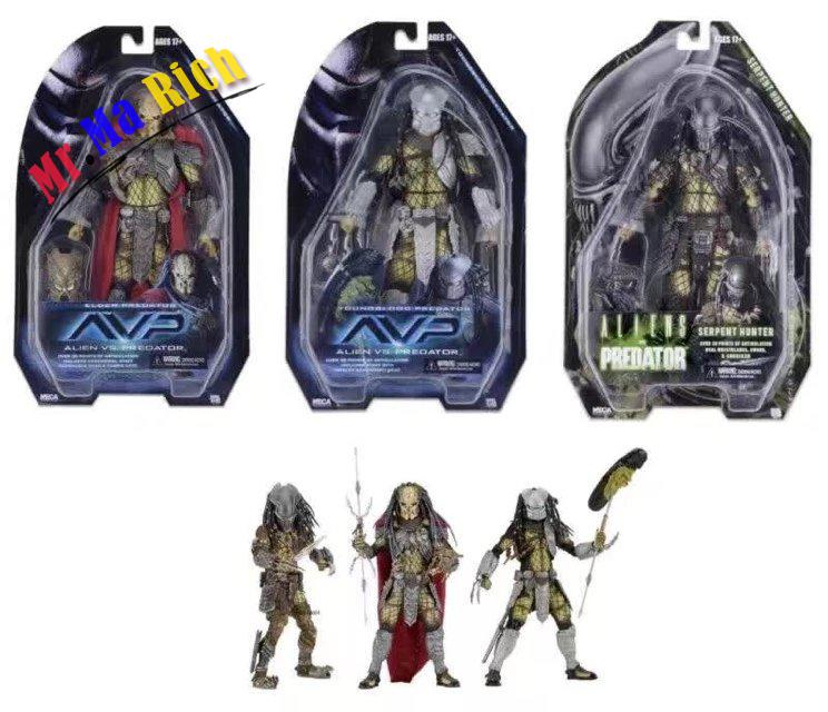 AVP Aliens vs. Predator Series NECA Young Blood Predator / Serpent Hunter PVC Action Fig ...